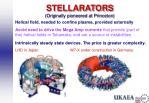 stellarators originally pioneered at princeton