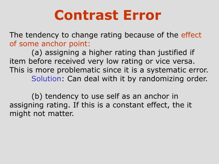 Contrast Error