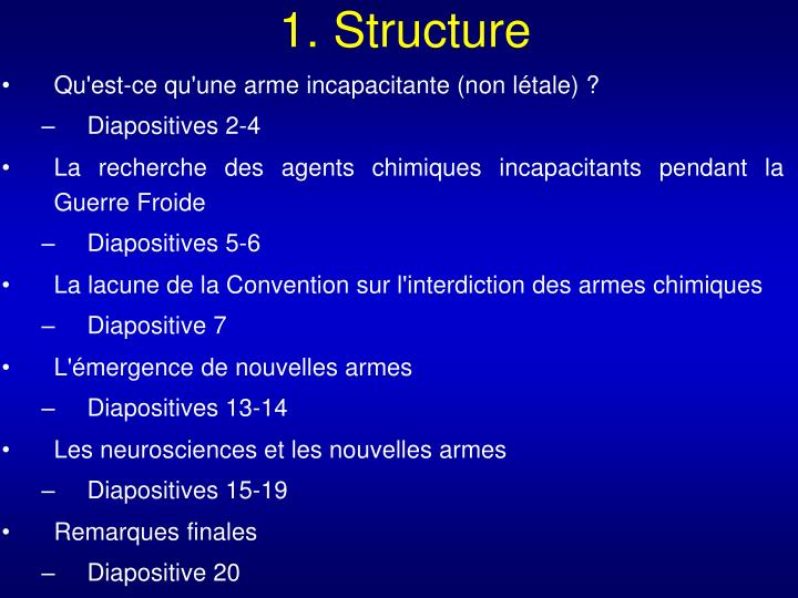 1. Structure