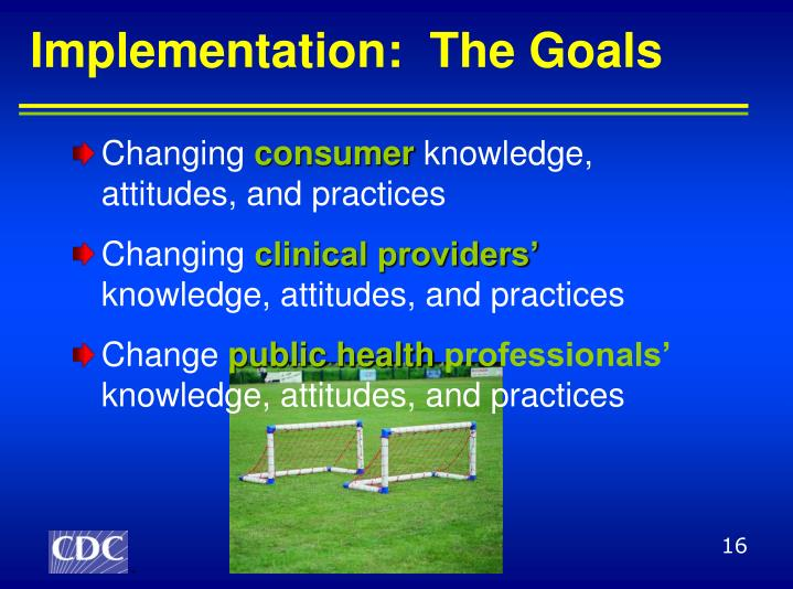 Implementation:  The Goals