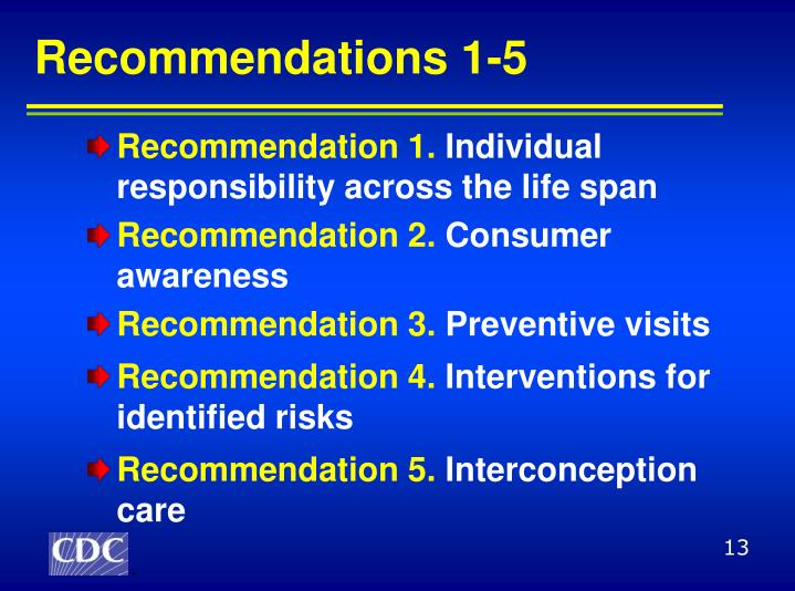 Recommendations 1-5