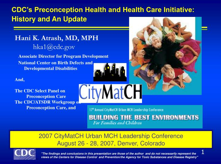 CDC's Preconception Health and Health Care Initiative: