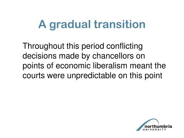 A gradual transition