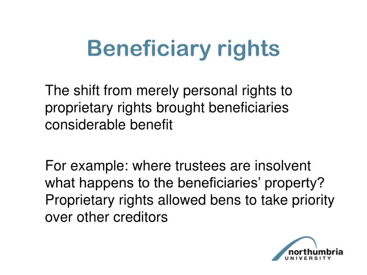 Beneficiary rights