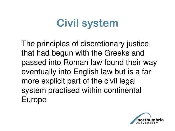 Civil system