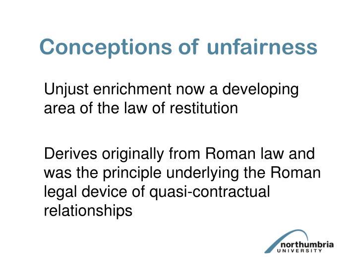 Conceptions of unfairness