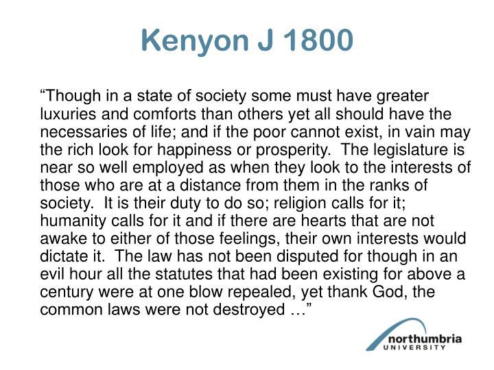 Kenyon J 1800