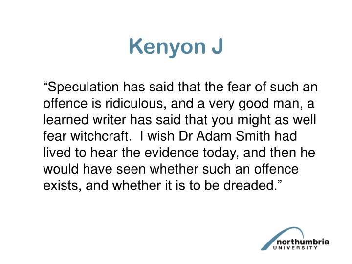 Kenyon J