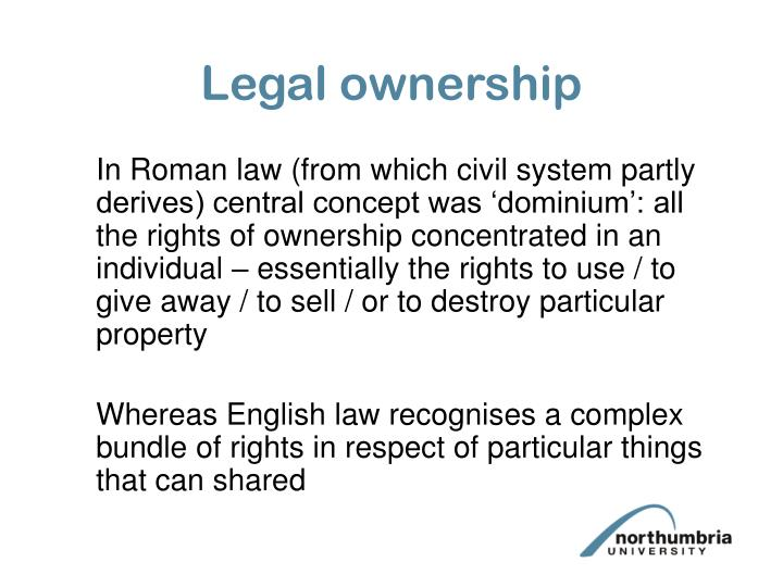 Legal ownership