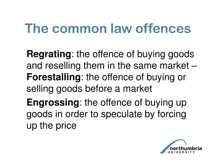 The common law offences