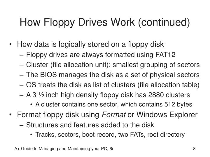 How Floppy Drives Work (continued)