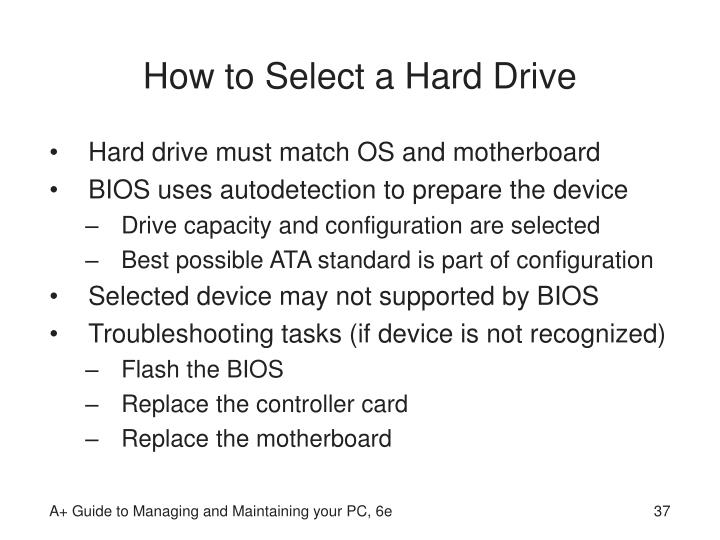 How to Select a Hard Drive