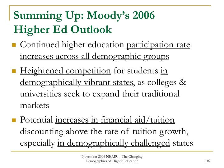 Summing Up: Moody's 2006