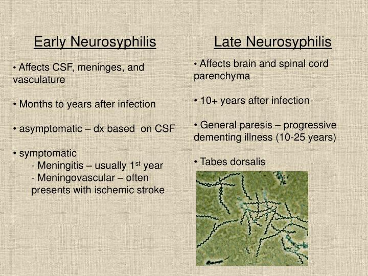 Early Neurosyphilis