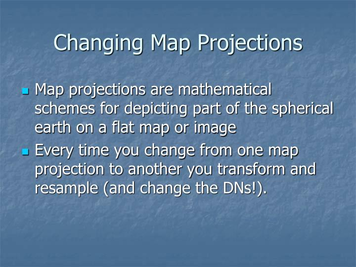 Changing Map Projections