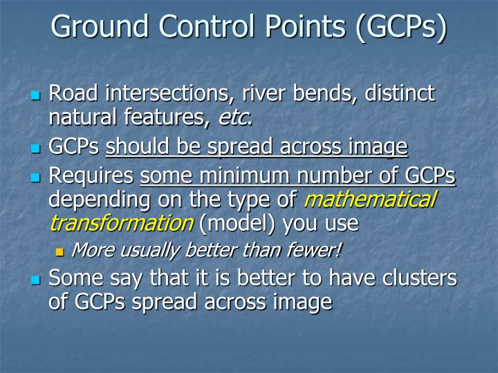 Ground Control Points (GCPs)