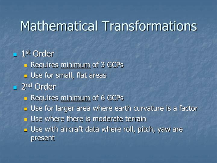 Mathematical Transformations
