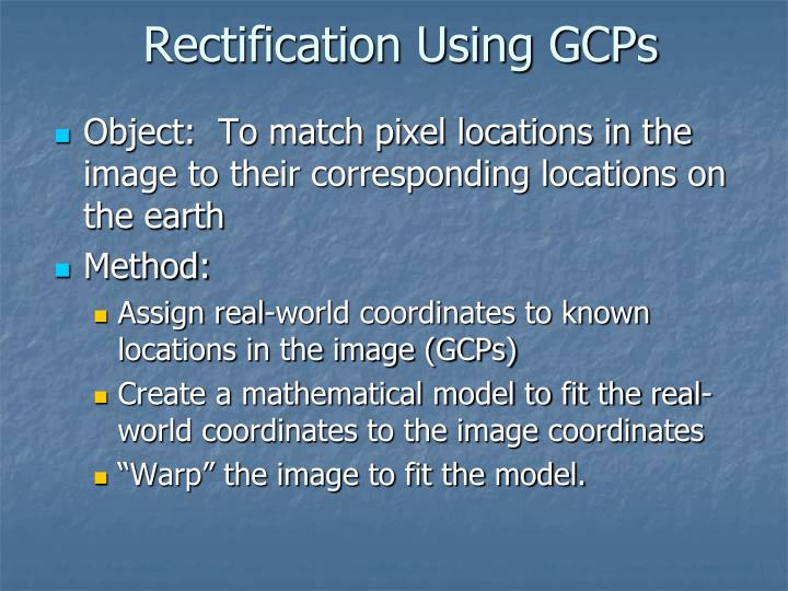 Rectification Using GCPs