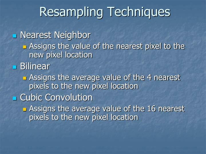 Resampling Techniques