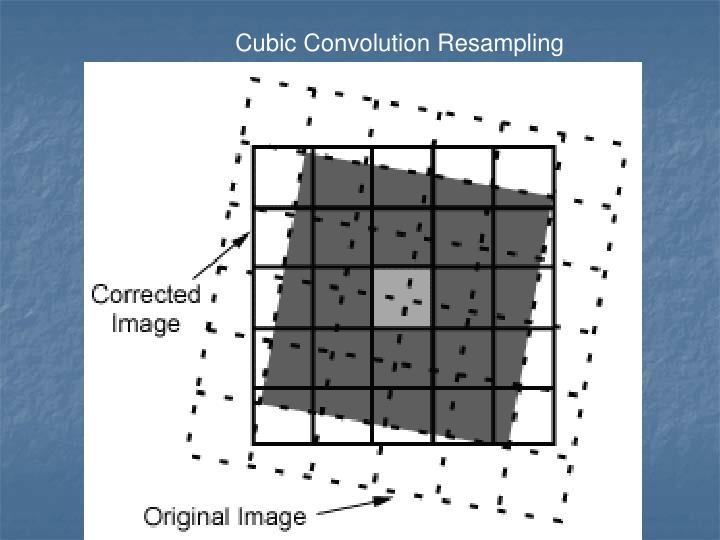 Cubic Convolution Resampling