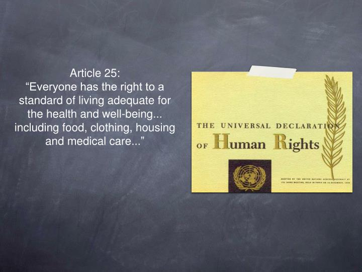Article 25: