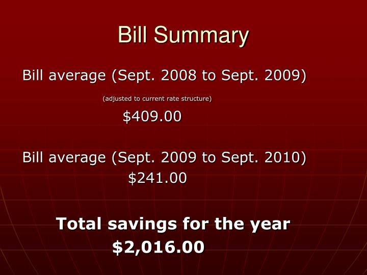 Bill Summary