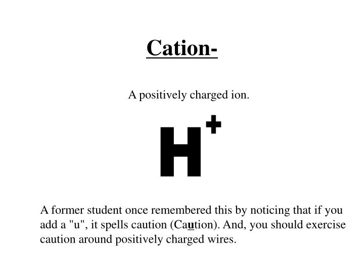Cation-