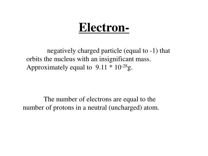 Electron-