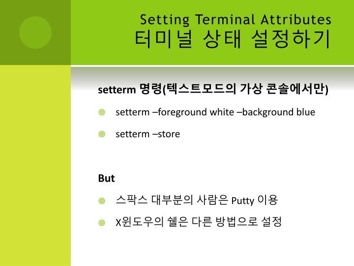 Setting Terminal Attributes