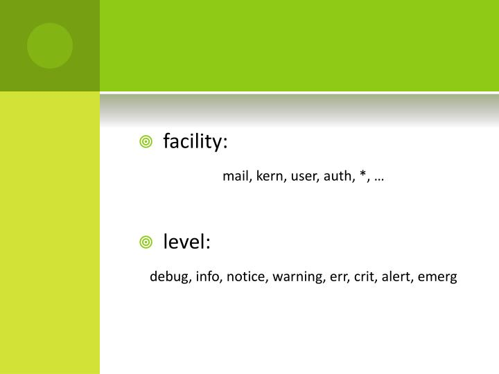 facility: