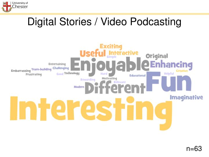 Digital Stories / Video Podcasting