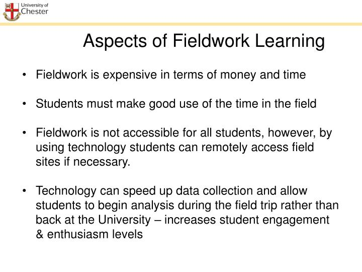 Aspects of Fieldwork Learning