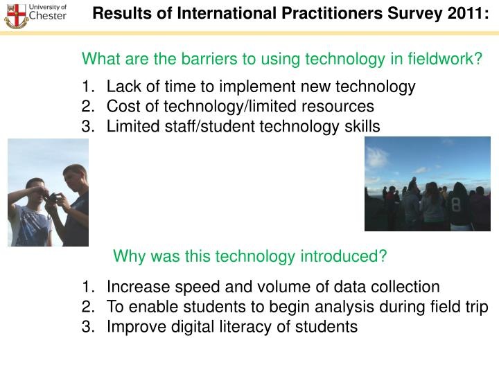 Results of International Practitioners Survey 2011: