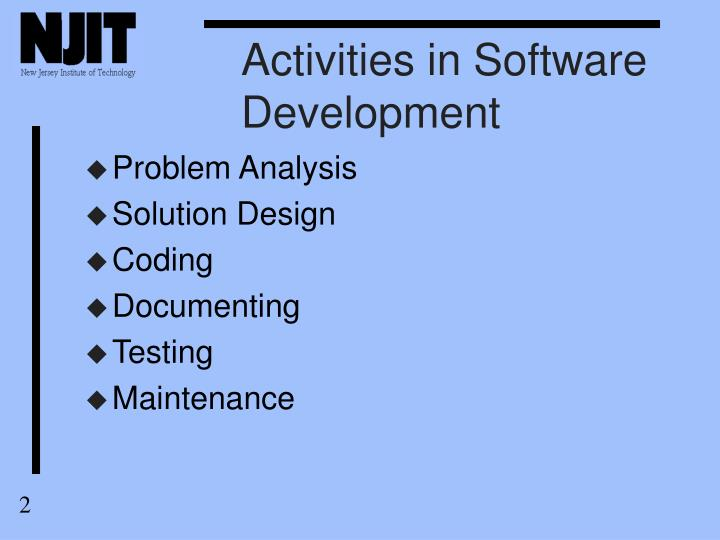 Activities in Software Development