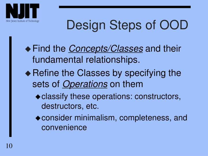 Design Steps of OOD
