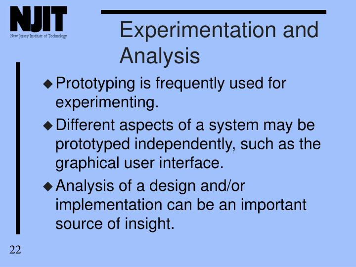 Experimentation and Analysis