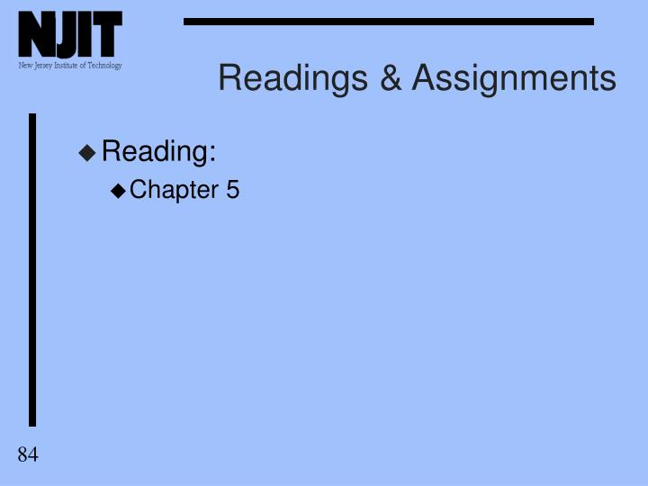 Readings & Assignments
