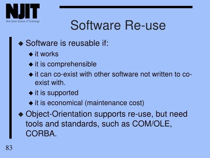 Software Re-use