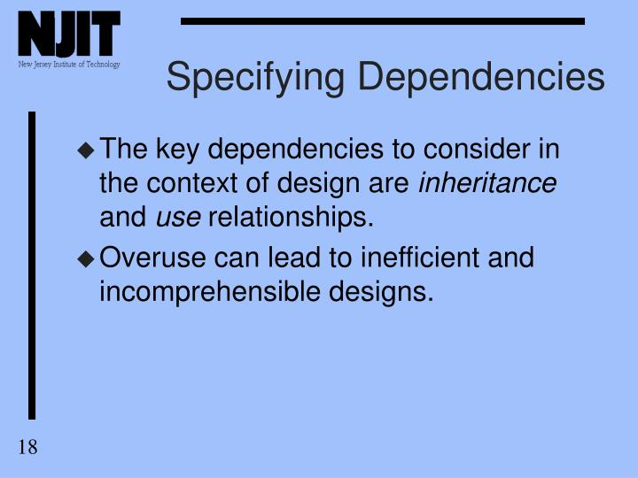 Specifying Dependencies