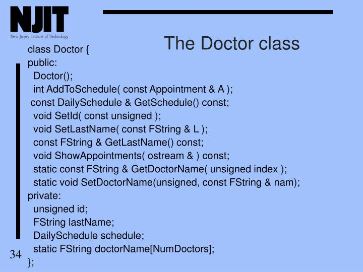 The Doctor class