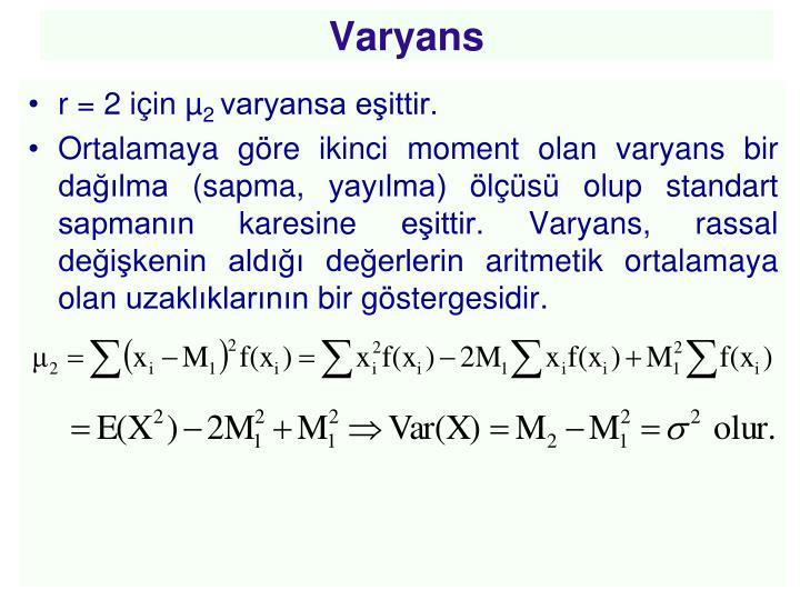 Varyans