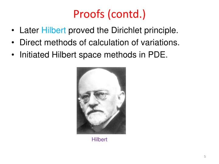 Proofs (contd.)