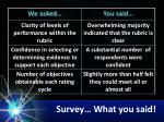 survey what you said