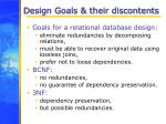 design goals their discontents