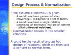 design process normalization