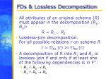 fds lossless decomposition