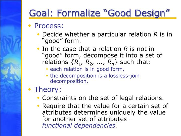 "Goal: Formalize ""Good Design"""