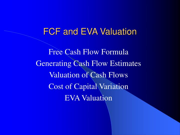 Fcf and eva valuation