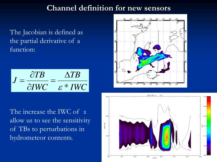 Channel definition for new sensors