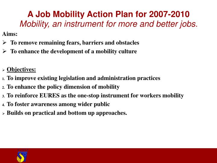 A Job Mobility Action Plan for 2007-2010